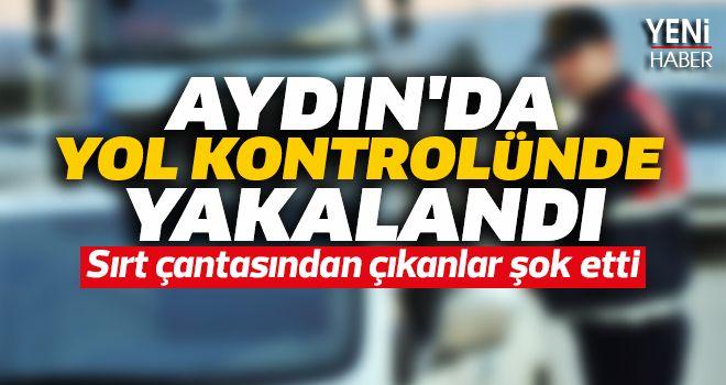 Aydın'da yol kontrolünde yakalandı