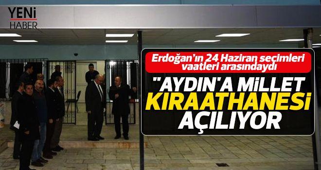 Aydın'a Millet Kıraathanesi açılıyor