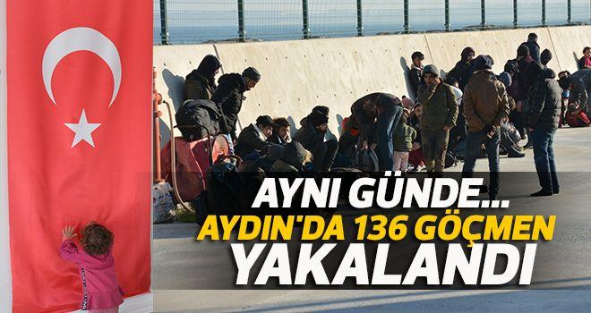 Aydın'da 136 göçmen yakalandı
