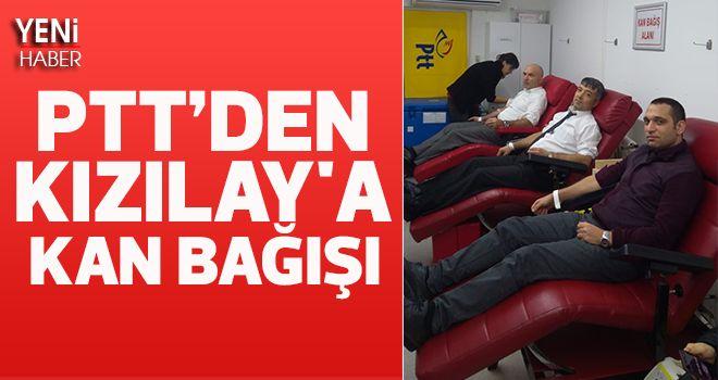 PTT Çalışanlarından Kızılay'a Kan Bağışı