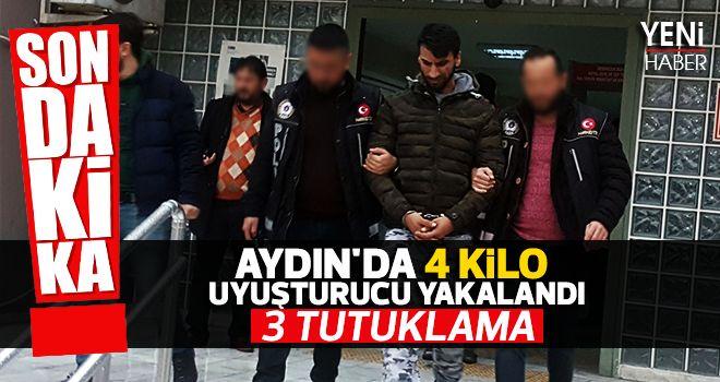 Aydın'da 4 kilo uyuşturucu yakalandı