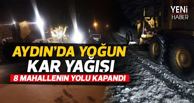 Aydın'da yoğun kar yağışı