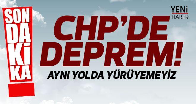 CHP'de deprem!
