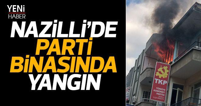 Nazilli'de parti binasında yangın