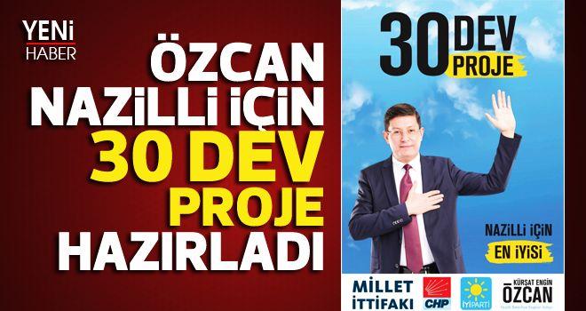 Özcan, Nazilli için 30 dev proje hazırladı