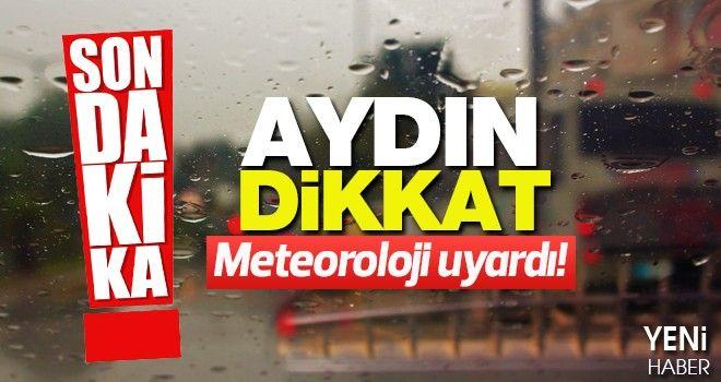 Yağışlı hava Aydın'ı etkisine alacak