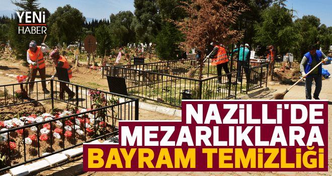 Nazilli'de mezarlıklara bayram temizliği