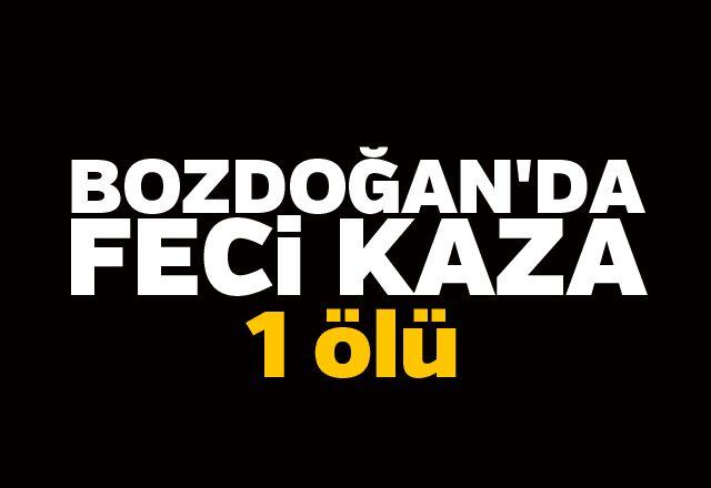 Bozdoğan'da feci kaza: 1 ölü