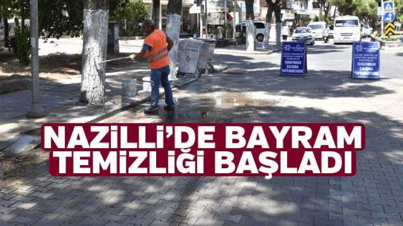 Nazilli'de bayram temizliği başladı