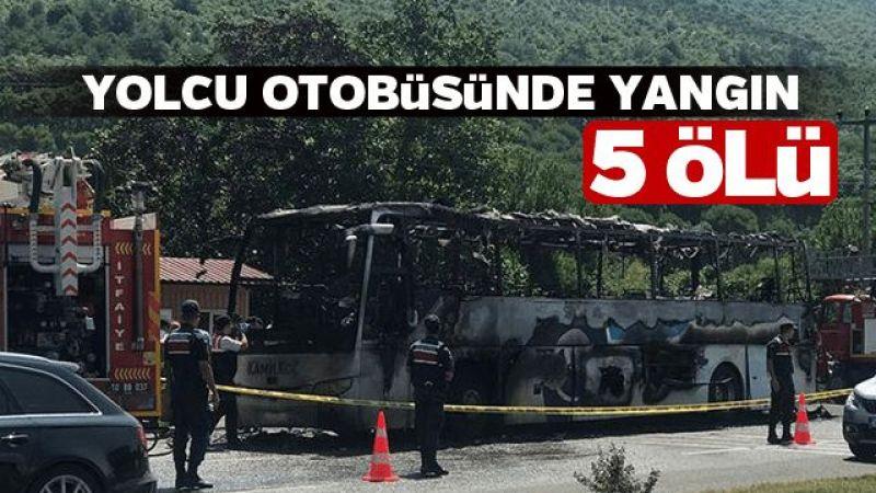 Yolcu otobüsünde yangın: 5 ölü
