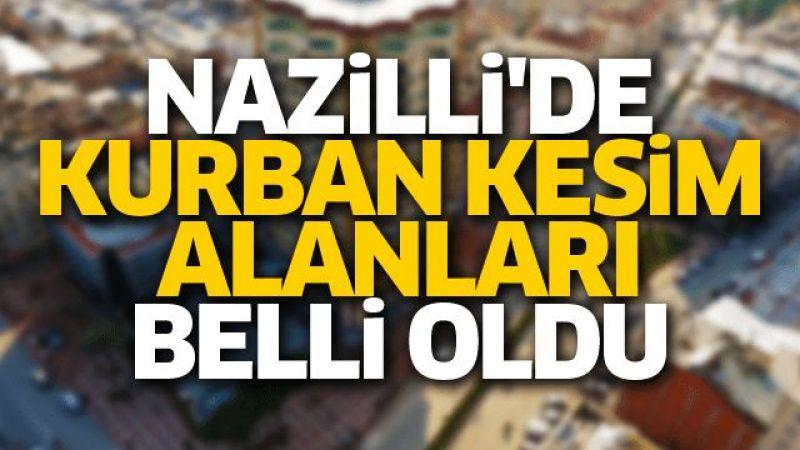 Nazilli'de kurban kesim alanları belli oldu