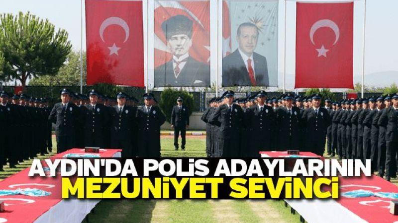 Aydın'da polis adaylarının mezuniyet sevinci