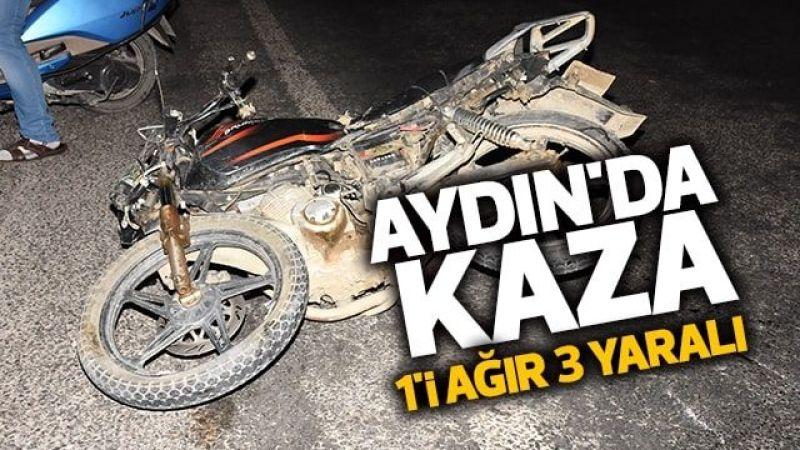 Aydın'da kaza: 1'i ağır 3 yaralı