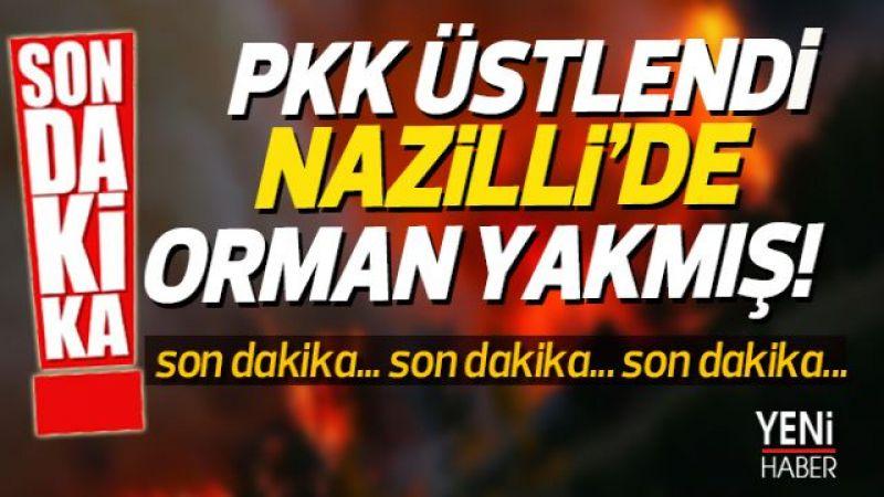 PKK Nazilli'de orman yakmış