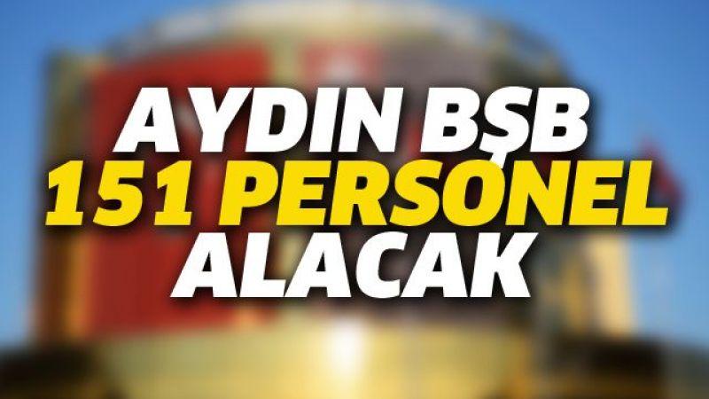 Aydın'da 151 personel alınacak