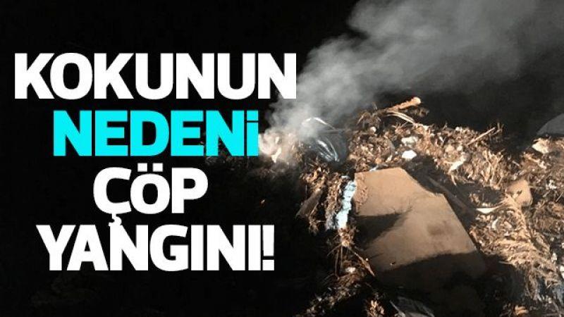 Aydın'da kokunun nedeni çöp yangını!