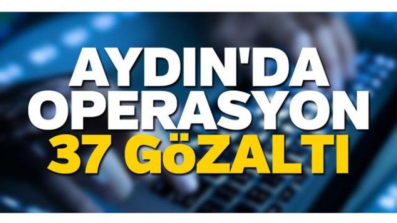 Aydın'da operasyon: 37 gözaltı