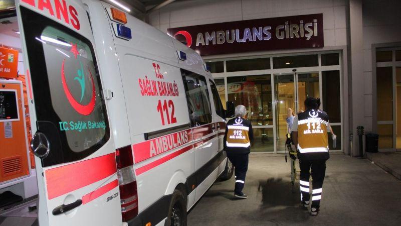 Kuyucak'ta itfaiye ekipleri kaza yaptı