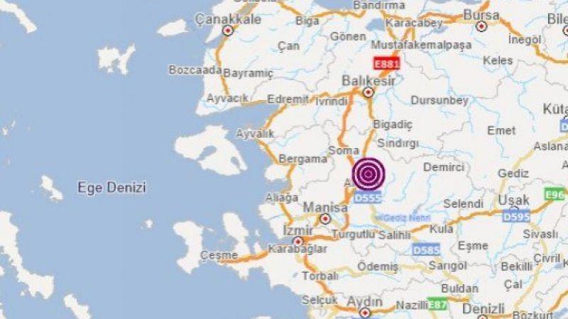 Manisa'da 5 şiddetinde deprem