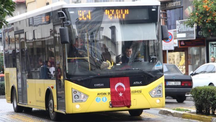 Aydın'da Van şehitlerine saygı