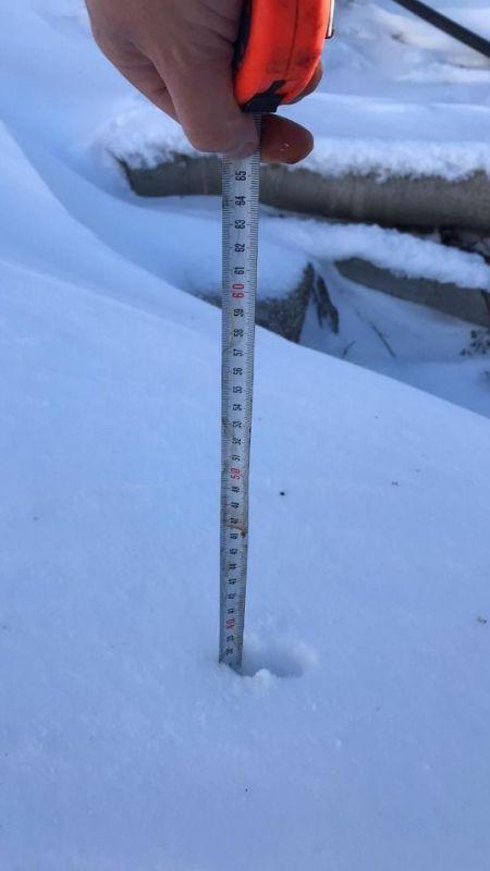 Aydın'da kar kalınlığı görenleri şaşırttı