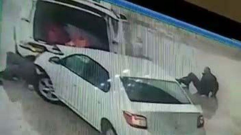 Aydın'da akaryakıt istasyonunda kaza