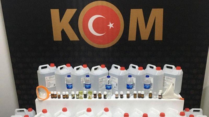 Didim'de 154 litre sahte alkol ele geçirildi