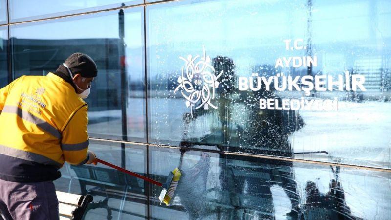 Aydın'da otobüs terminalleri dezenfekte edildi