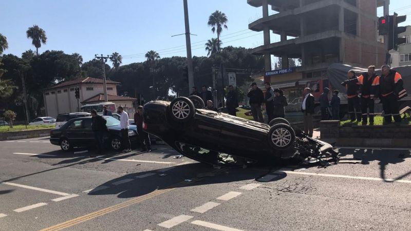 Nazilli'de korkutan kaza: 2 yaralı
