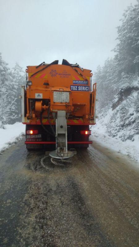 Aydın'da kar etkili oldu
