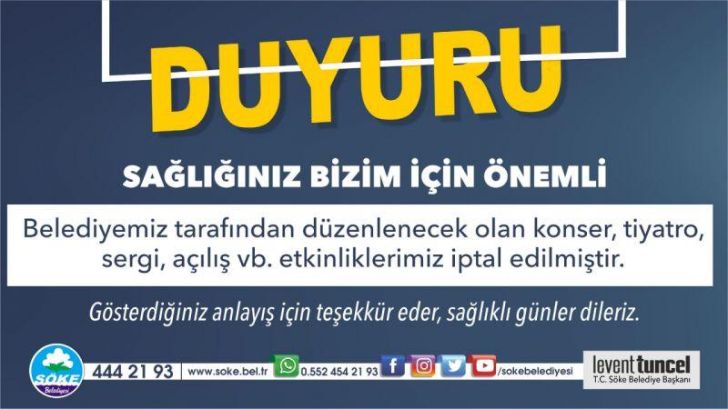 Aydın'da o belediyeler etkinlikleri iptal etti