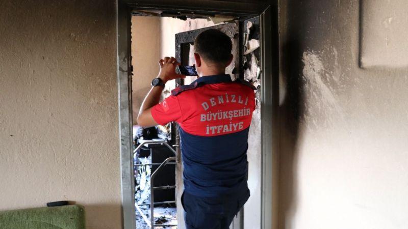 Çıkan yangında beşiğinde yaralanan bebek hayatını kaybetti