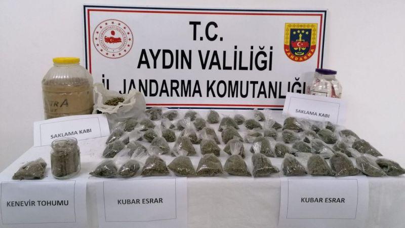 Aydın'da 2 kilogram esrar yakalandı
