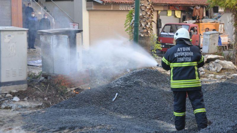 Aydın'da trafo yangını
