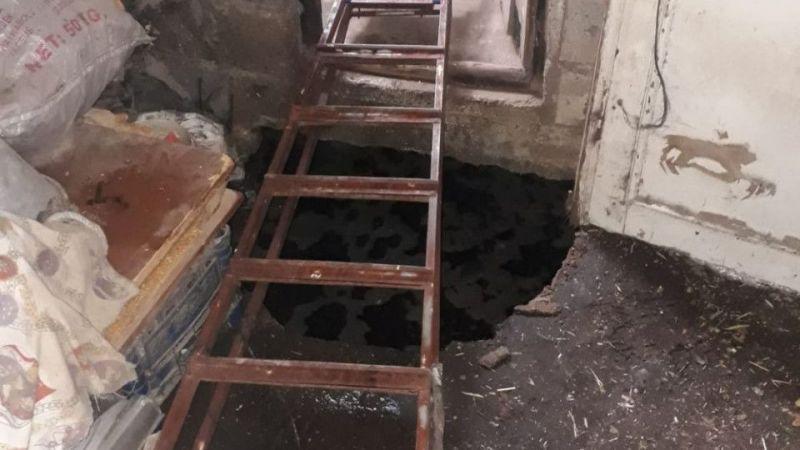 Aydın'da ahırın içindeki çukura düşen kadın kurtarıldı