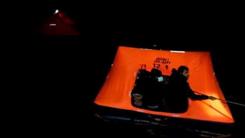 Aydın'da Türk kara sularına itilen 72 sığınmacı kurtarıldı