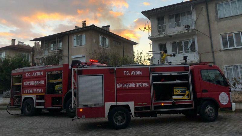 Nazilli'de ev yangını!