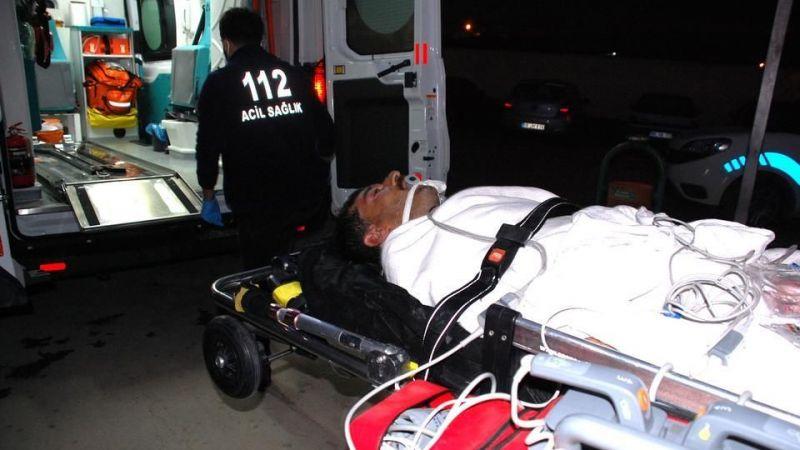 Aydın'da vurgun yiyen dalgıç hastaneye kaldırıldı