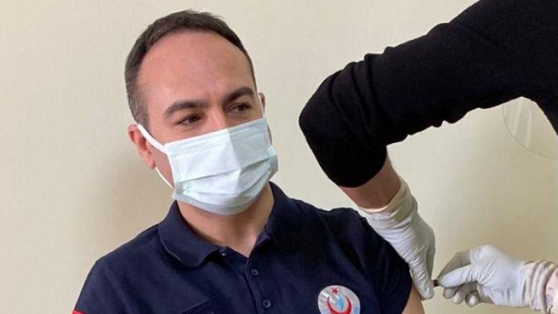 Aydın'da ilk koronavirüs aşısını Açıkgöz oldu