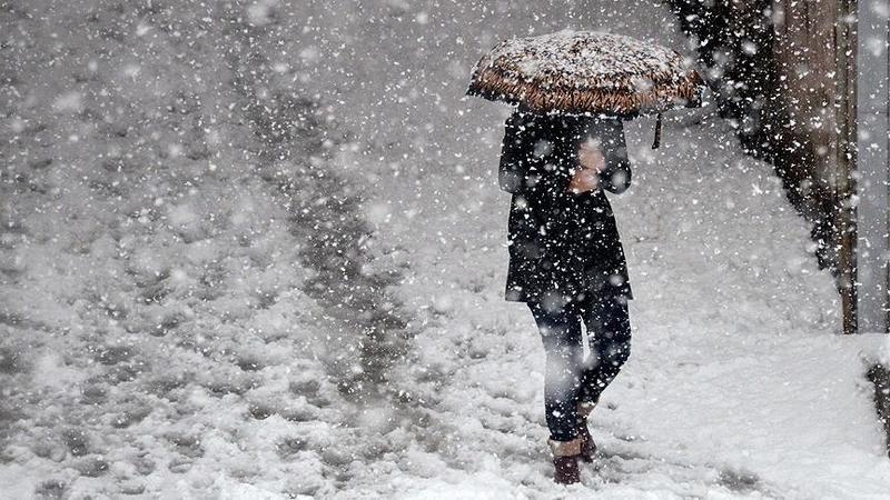 Aydın'da merkezlere kar yağıyor