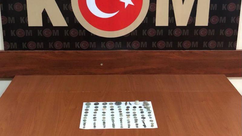 Aydın'da tarihi eser niteliğinde 98 obje ele geçirildi