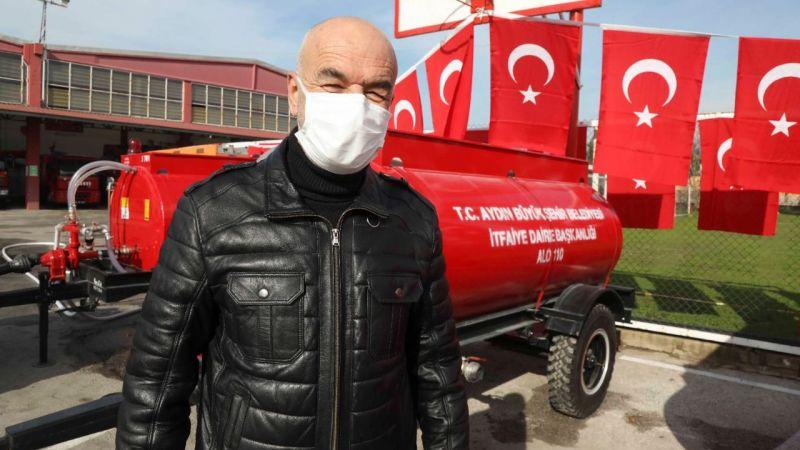 Büyükşehir'in yangın söndürme tankeri dağıtımı sürüyor