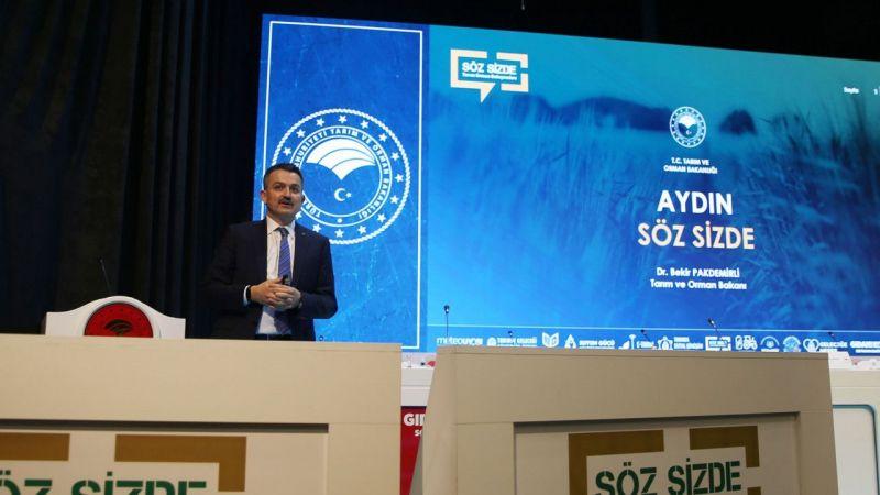 Bakan Pakdemirli, Aydın'da tarım sektörü temsilcileriyle buluştu: