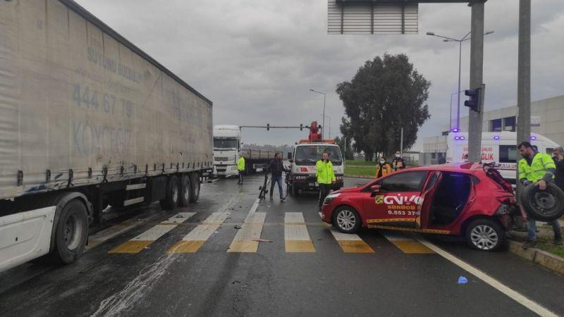 Ehliyet sınavında kaza: 4 yaralı