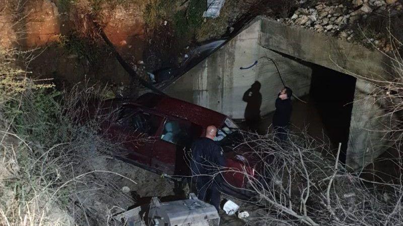 Aydın'da devrilen otomobilin sürücüsü hayatını kaybetti
