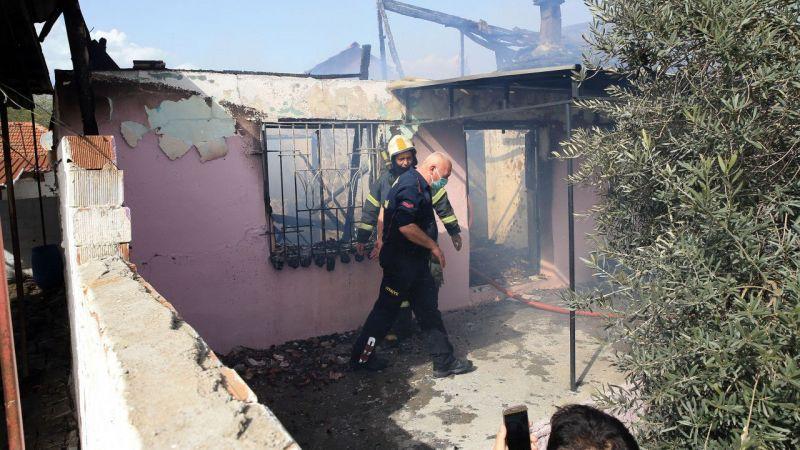 Aydın'da yangın çıkan ev, kullanılamaz hale geldi