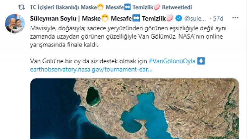 NASA'nın yarışmasında Van Göl'ü finale kaldı