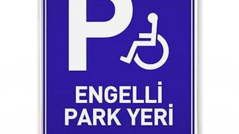 Engelliler için ayrılan alana araç park edenler dikkat!
