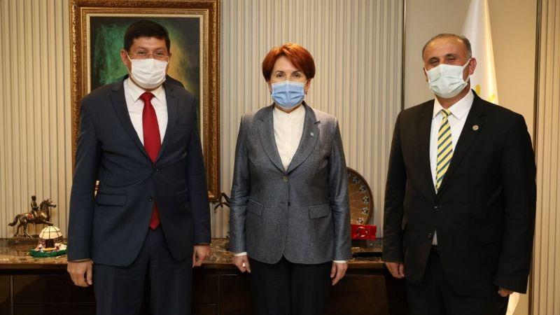 İYİ Partili başkanlardan Akşener'e ziyaret