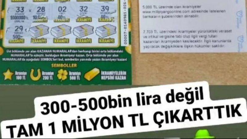 Aydın'da 'Kazı Kazan'dan 1 milyon lira çıktı!